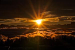 Sunset over the clouds IV by david2500