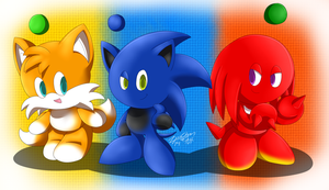 Team Sonic chao by Zipo-Chan