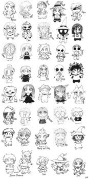 NBC Chibis and More by redlionspride
