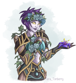 Commission | Undead Priestess Aliain (WoW) by TaraOBerry