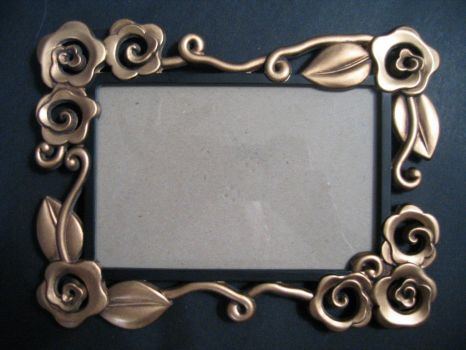 gold frame by lured2stock