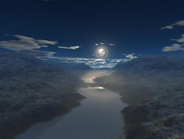 Night river - frozen by furryphotos