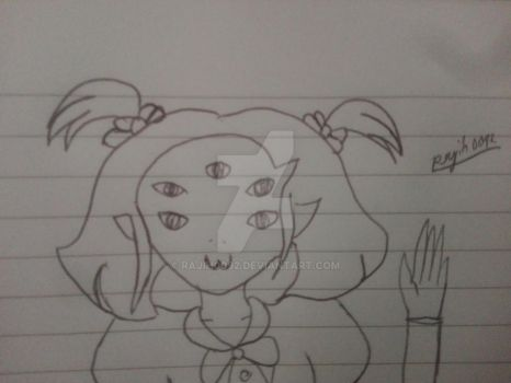 Quick Art - Muffet says hi to her fans by rajih0092