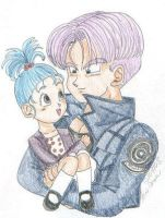 Mirai Trunks meet Chibi Bra by Trunks-Lovers