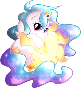 Chibi Celestia by secret-pony