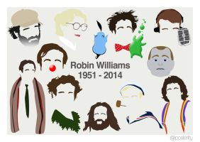 Robin Williams - Minimal Characters by Posteritty