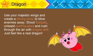 Dragon Kirby (fanmade ability) by DarkDiddyKong