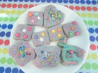 Marbled rainbow biscuts by Sia-the-Mawile