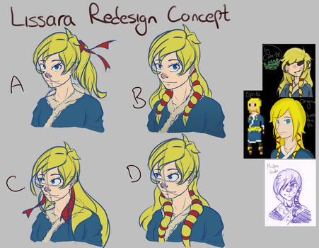Lissara Redesign Concepts by RaiusGames