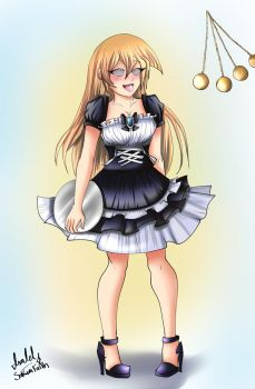 Alexis Rhodes the hypnotized maid(spiral eyes) by HirotoStar