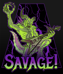 Savage Deathclaw by GalooGameLady