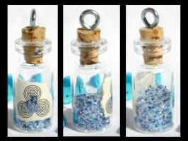 River Fairy Dust Bottle Pendan by GeneveveX