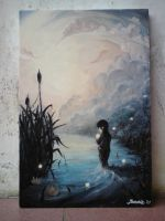 Oil painting_evanescent sunris by flywithurwings