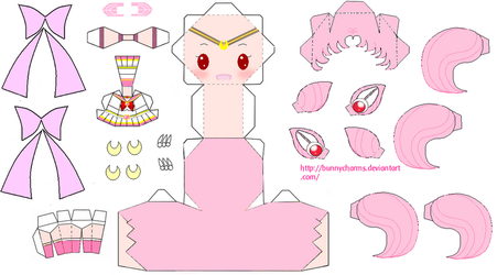Sailor Chibi Moon Papercraft by bunnycharms