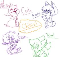 Chibis!! by Illiterate-Swine