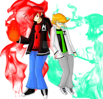 Blaze and Freeze, the Aze Brothers. by MGZE