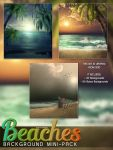 Beaches Background Mini Pack Re-release by cosmosue