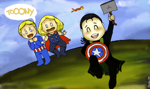 Captain Thorki and his Unlimited Power by VideaVice
