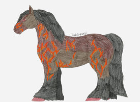 Fire horse by fableworld