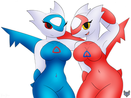 Commission - Latias and Latios