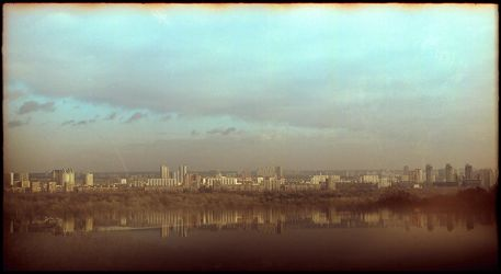 Left bank of Kyiv city by gndrfck
