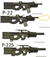 Weapons: P-22 by purpledragon104