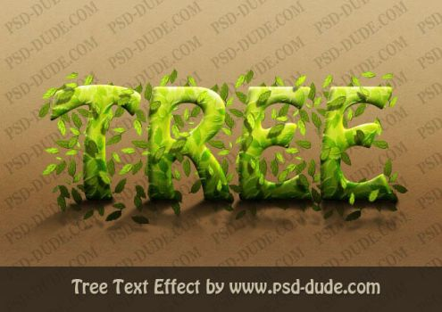 Tree Text Effect by PsdDude