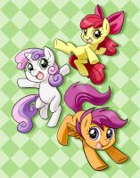 Cutie Mark Crusaders are GO! ::REPOST:: by chibi-jen-hen