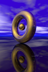 Torus and Sphere by TomWilcox