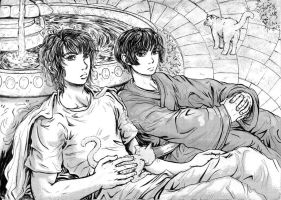 APH: Mellow Yellow -BW ver.- by genaminna