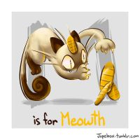 M is for Meowth by Jupeboxgal