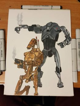 Star wars droids. Unfinished version  by yorkshirepudding1990