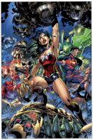 Justice League 3 Cover by sinccolor