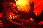 FA: Alduin vs Urthemiel + (with Speedpaint) by ShizukaTW