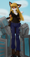 Taylor Tramples Tiny Town (COLORED VERSION) by DeferredGalaxy3