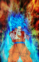 Goku God-ki Super Saiyan by Nassif9000