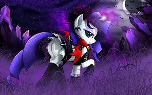 MLP Rarity (theme dark night) by Malifikyse