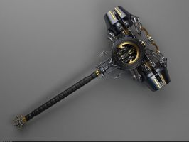Heretic Crusher Hammer: Top view by Samouel