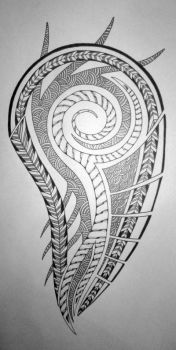 Tribal with Celtic design by tux20