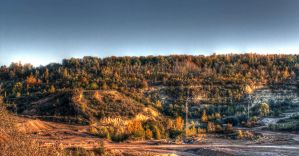 Autumn Quarry Wide HDR by Kaldrax