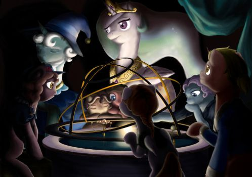Celestia's Orrery and Guest(Updated) by Meemie7