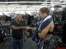 Ronda Rousey and Mike Tyson by lowerrider