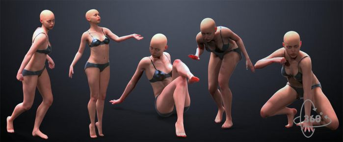 5pack Female Poses by inspiring-references