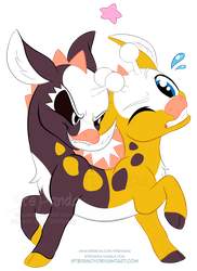 Girafarig Beta by StePandy