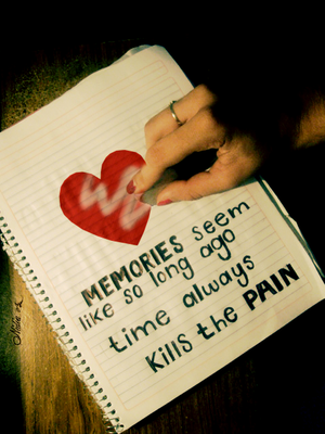 Time always kills the pain by juststyleJByKUDAI