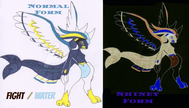 Seattack / Aquarnage Fakemon by Auracly