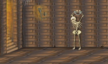 Dungeon with Skeleton by Louisetheanimator