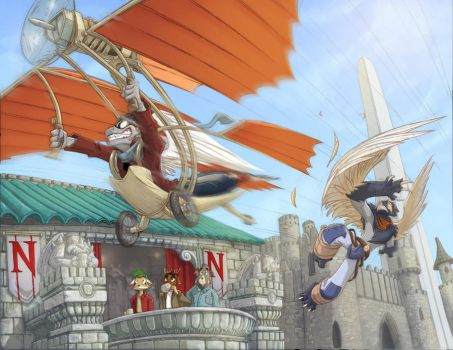 Commission 1:  Flyover by Dreamkeepers