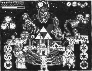 The Legend of Zelda, in doodle format. by indoodleformat