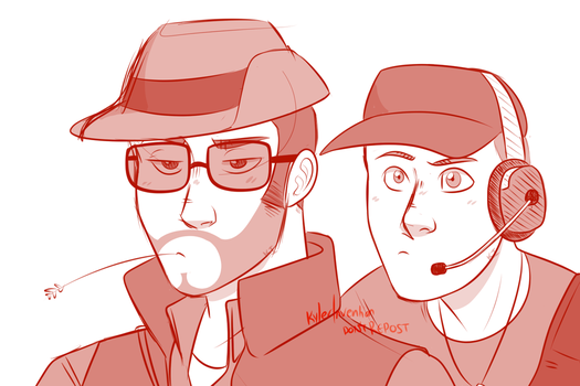 TF2 Sniper n Scout by KylerInvention